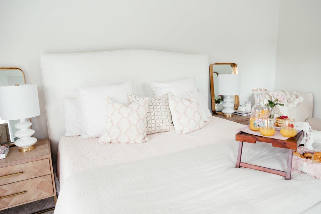Dani Austin bedroom tour march pink robe