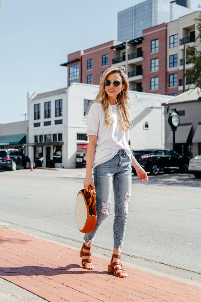 Dani Austin Blog Websites Jeans and White Free People Tee