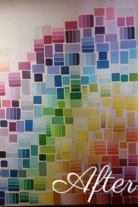 DIY: Paint Swatch Wall  Style 2: Grid