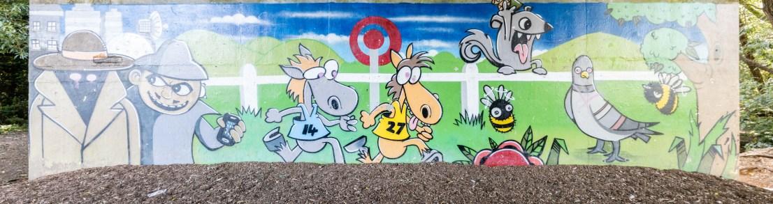 Races Graffiti at Benhall park
