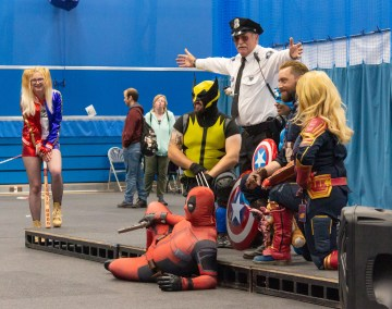Geekmania Gloucester Marvel group photo