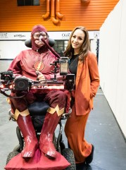 Daniel Baker dressed as the Flash with Tabitha Lyons