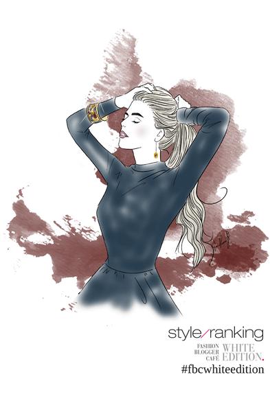 Live Drawing Fashion Illustration von Bloggerin Franziska Nazarenus.