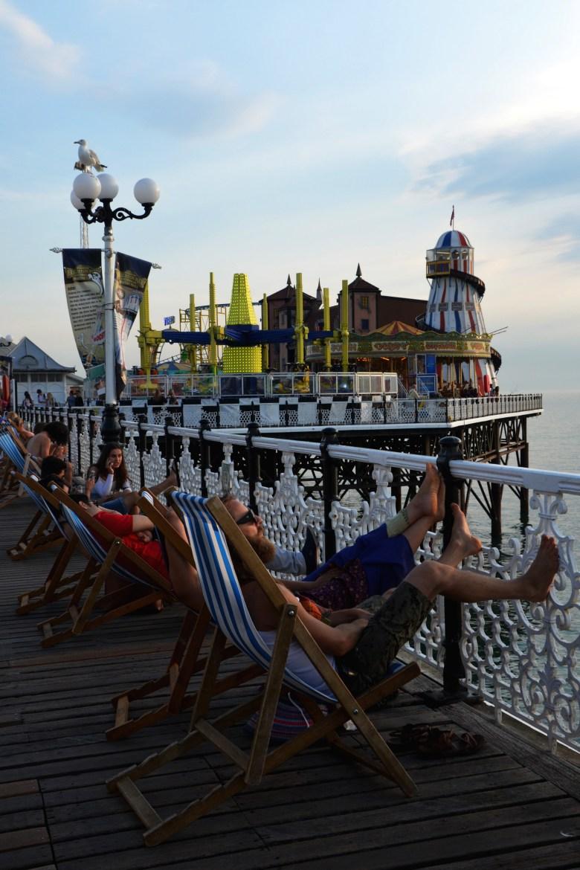 brighton pier - praia - inglaterra - bate e volta de Londres