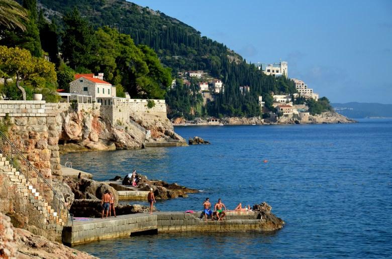 praia banje - dubrovnik - croácia - pontos - turísticos