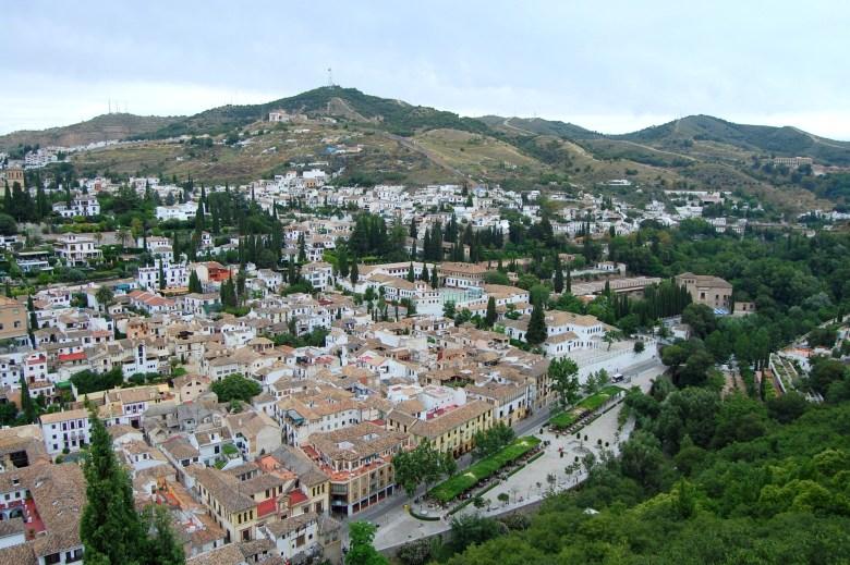 vista forte alcazaba - Alhambra - granada - espanha - andaluzia