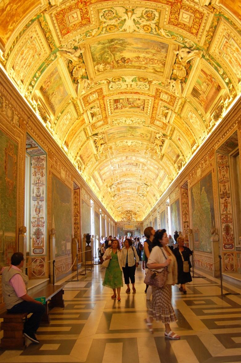 galeria dos mapas - museus do vaticano - roma - pontos turísticos