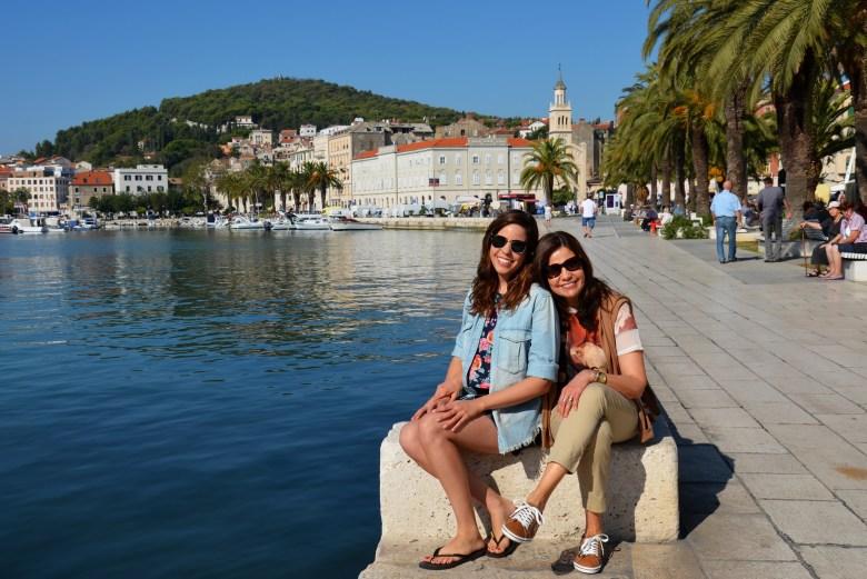 calçadão - split - croácia - turismo