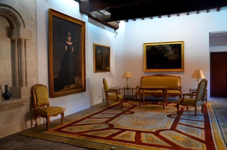 interior do Palácio Real de La Almudaina - palma de maiorca - turismo