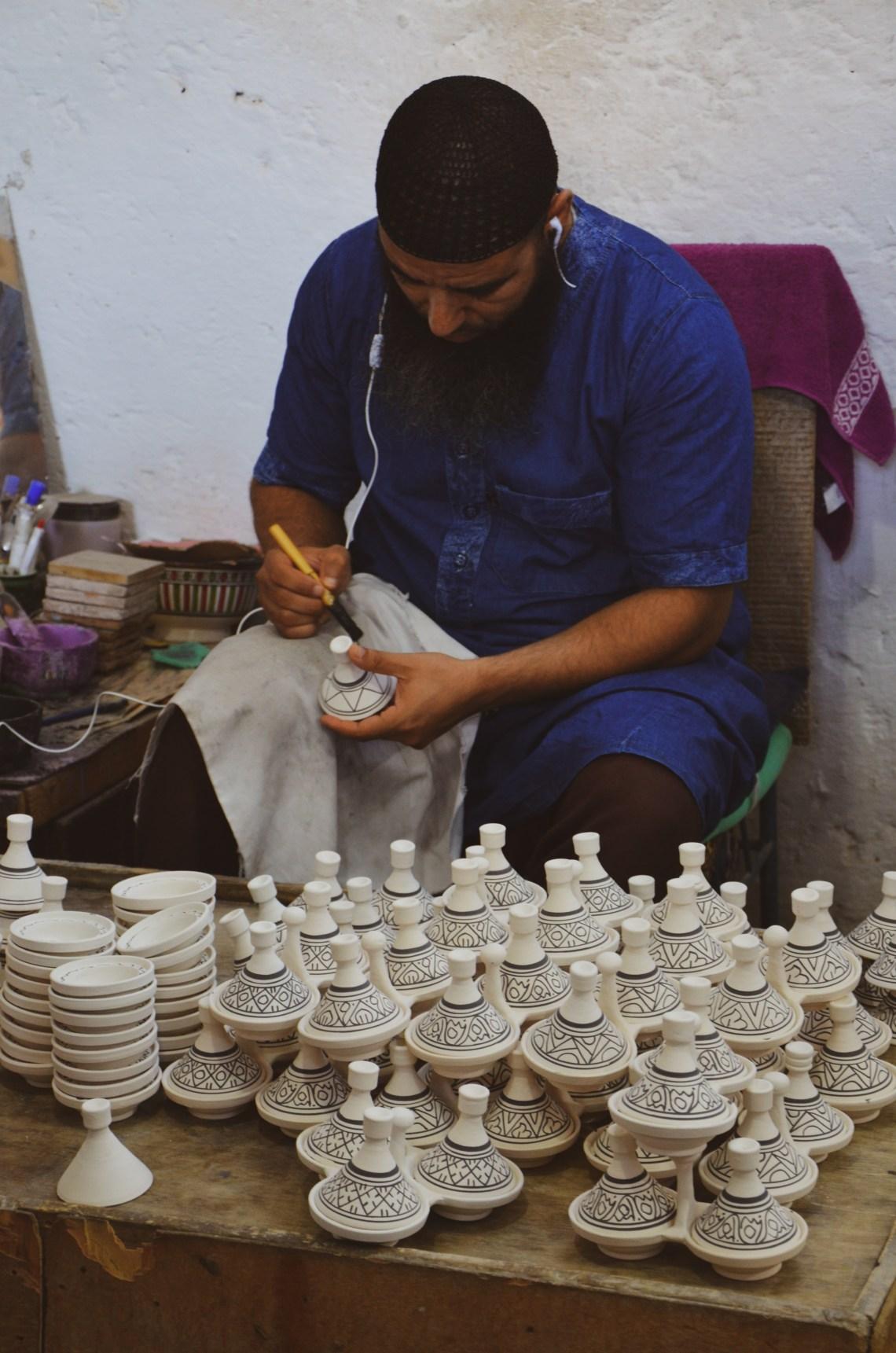 produtos artesanais no Marrocos