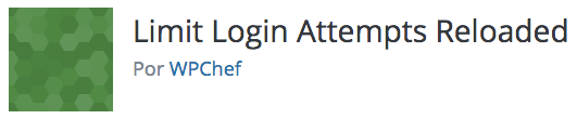 Logotipo do plugin Limit Login Attempts Reloaded desenvolvido por WPChef.