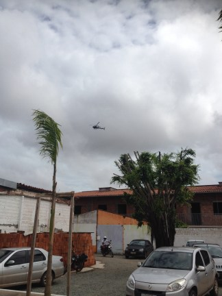 The military police circled over the school car park during the show