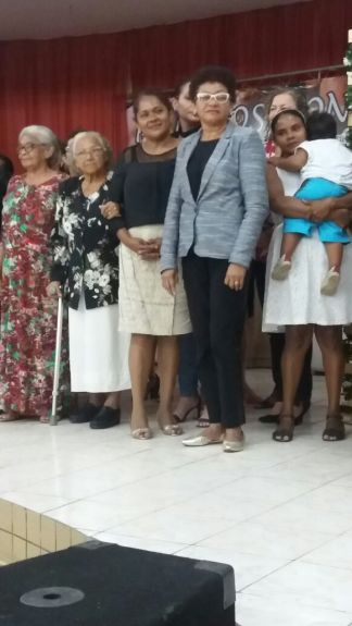 Mums were presented with a gift at church