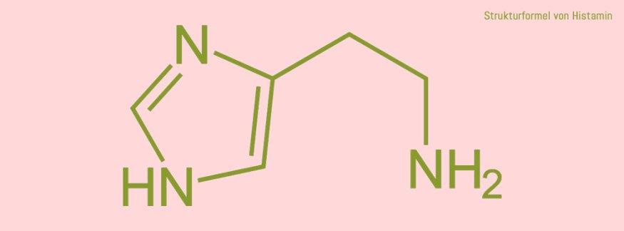 Strukturformel von Histamin