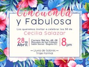 Tarjetas De Invitación Daniela Salazar