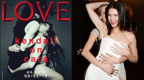 Kendall Jenner Straddles Cara Delevingne for 'Love' Magazine Cover