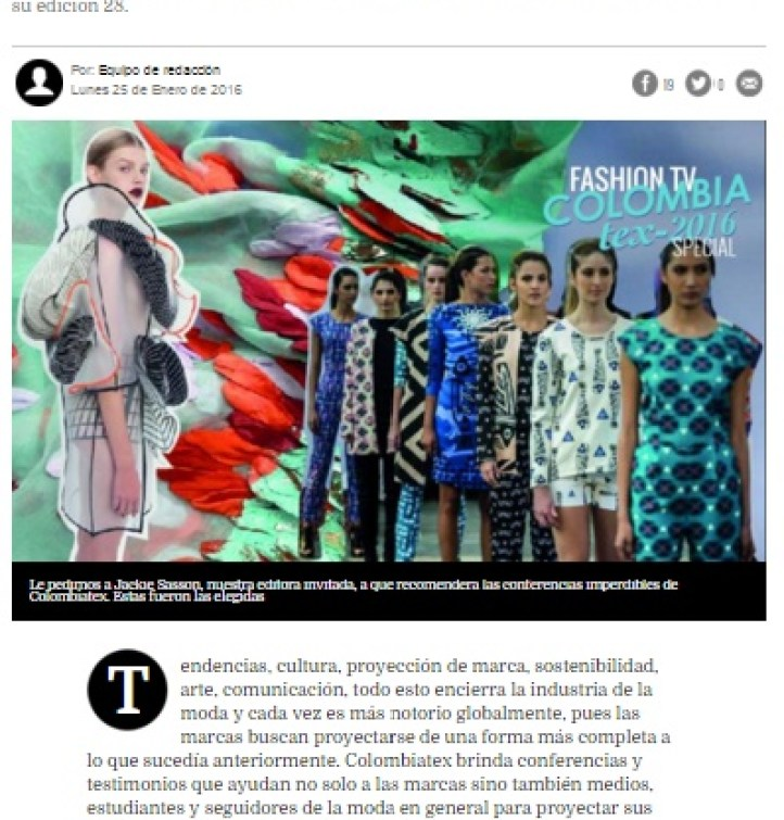 FASHION TV COLOMBIA - FASHIONTV LATINOAMERICA - DANIELASTYLING - BLOG DE MODA - COLOMBIATEX TEXTILES MODA CONFERENCIAS