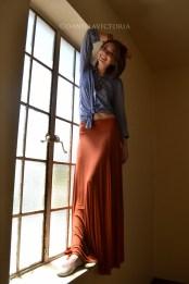 orange skirt-0374