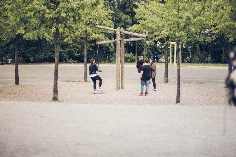 Making of vom Modelwalk in Köln