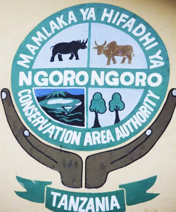 emblem for ngorongoro national park...one of the many wonderful conservation parks I visited for recording_db