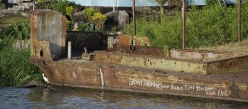 lake victoria repurposed barge as jetty
