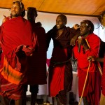 modern day Masai perform at a celebration