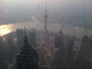 "Shanghai desde el Piso 100 del ""Shanghai World Financial Center"""