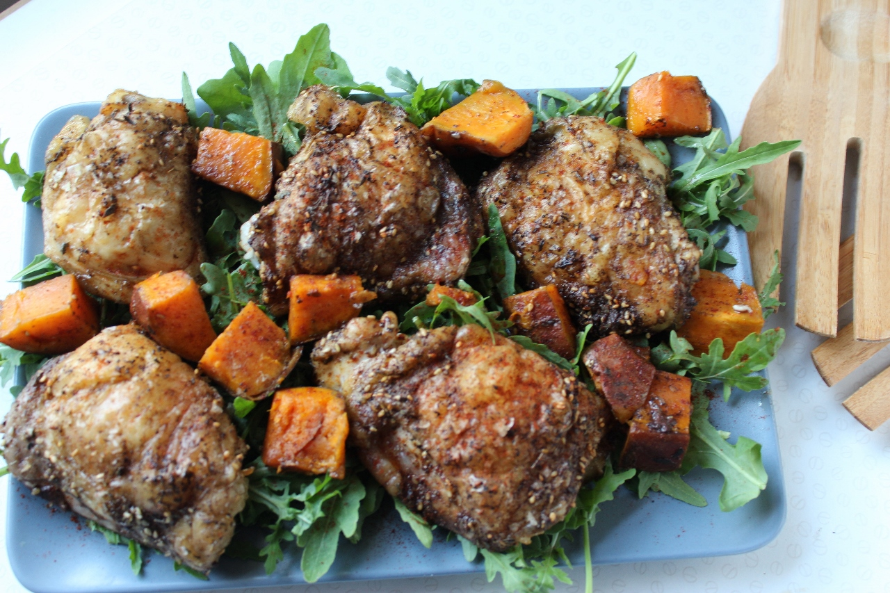 Za'atar Chicken & Sweet Potatoes