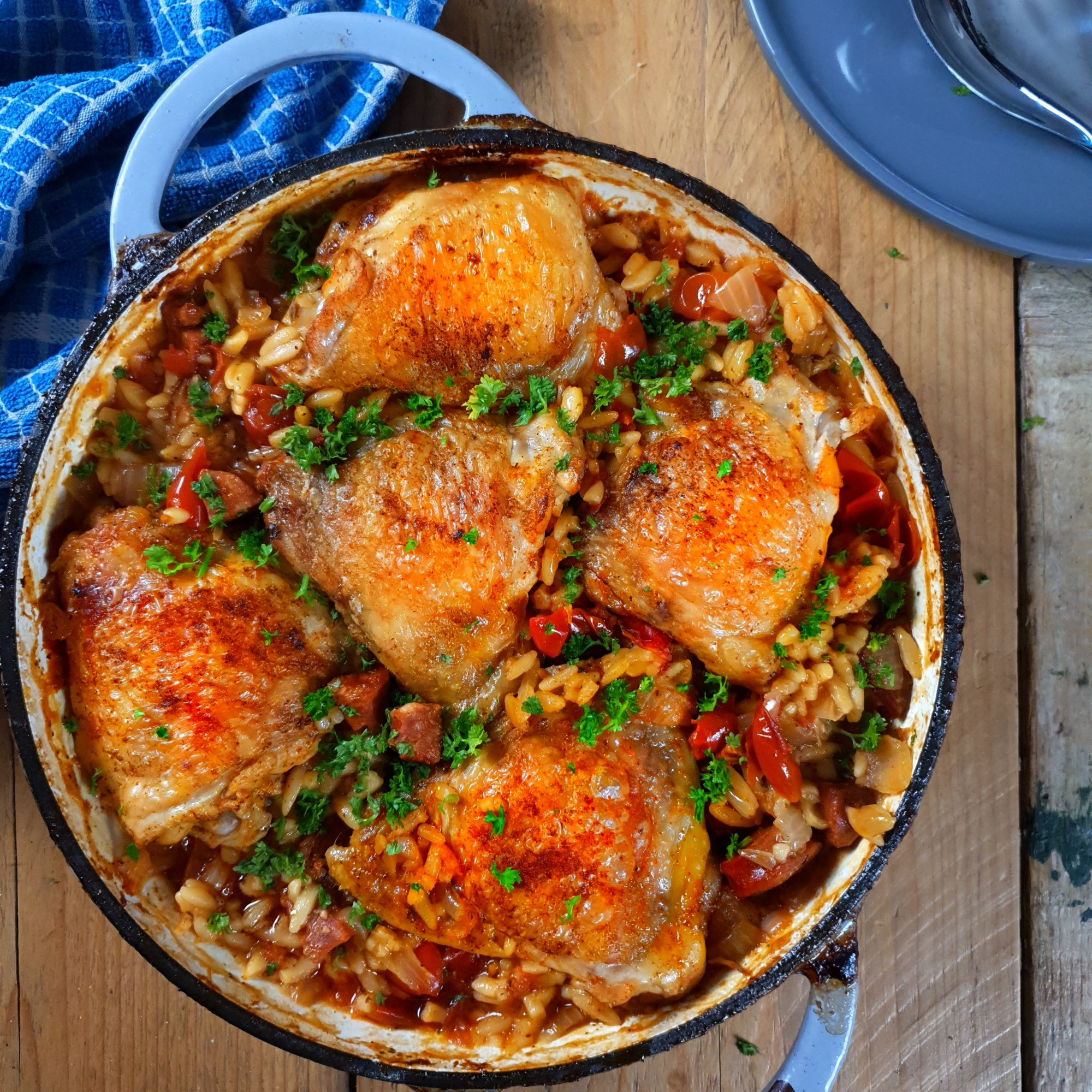 Chicken & Chorizo Orzo