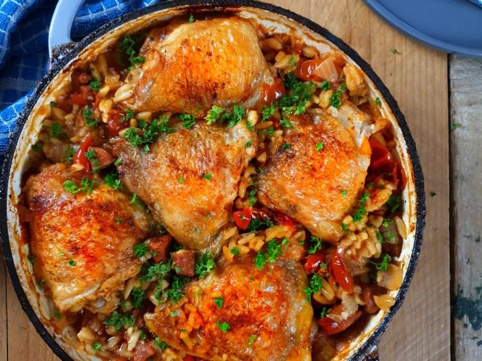 Chicken & Chorizo Orzo