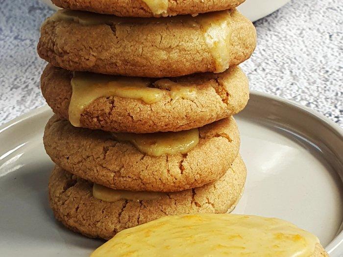 orange glazed gingernut biscuits