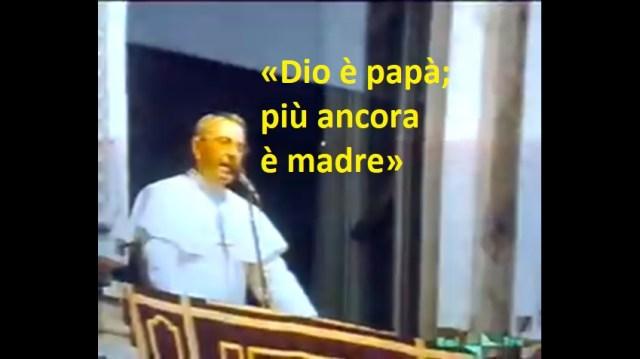 Chiesa di Svezia «Dio non è uomo»; Giovanni Paolo I «Dio è madre» VIDEO