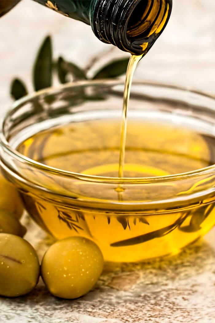 Umectação com azeite de oliva