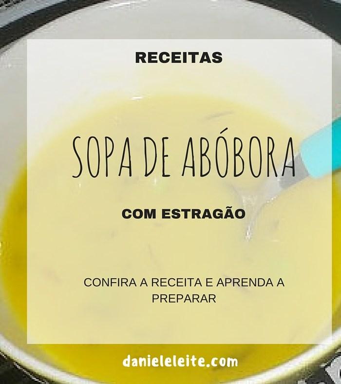 SOPA DE ABÓBORA COM ESTRAGÃO