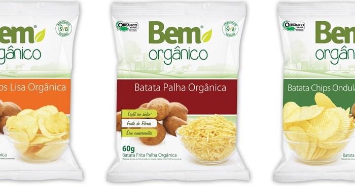 Batata chips orgânica