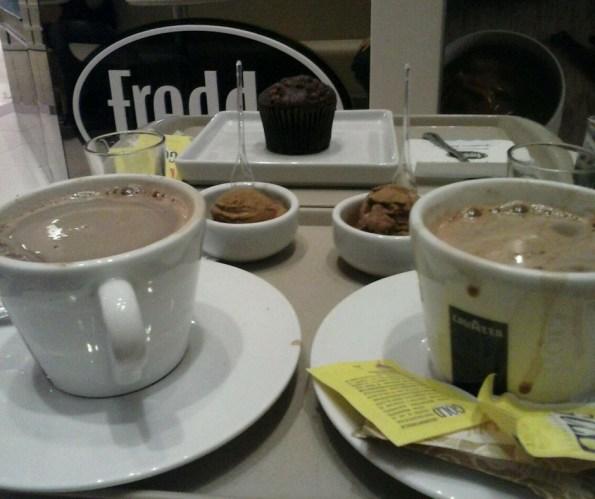 chocolate quente na Freddos