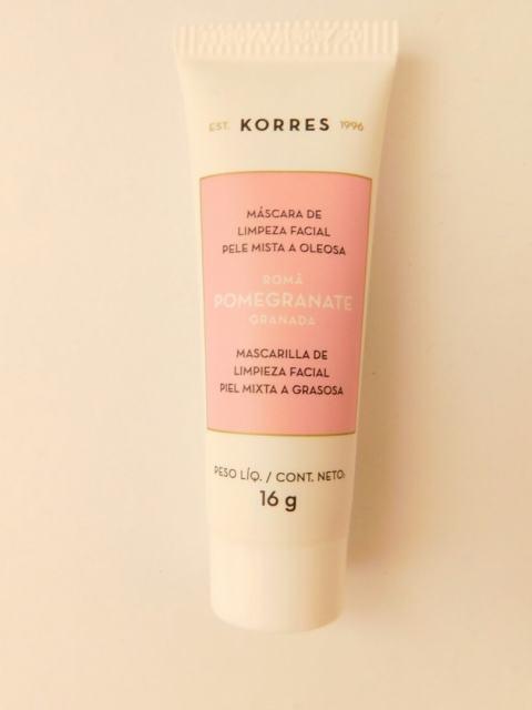 máscara de limpeza facial Korres