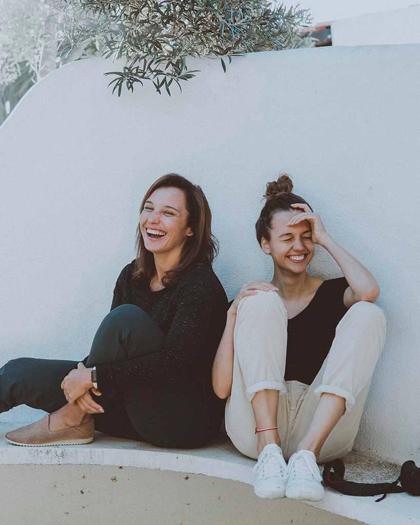amigas sorrindo