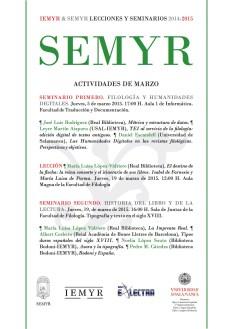 SEMYR - Actividades de marzo