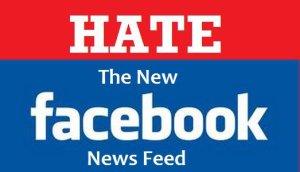 Odio hacia el nuevo Newsfeeds