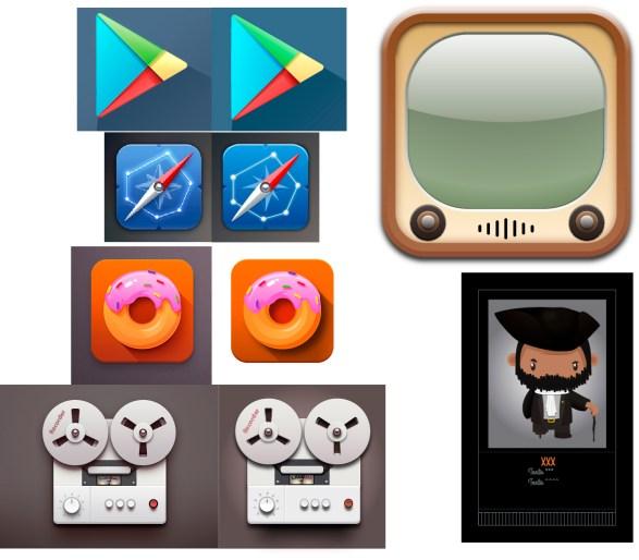 Iconos+personaje