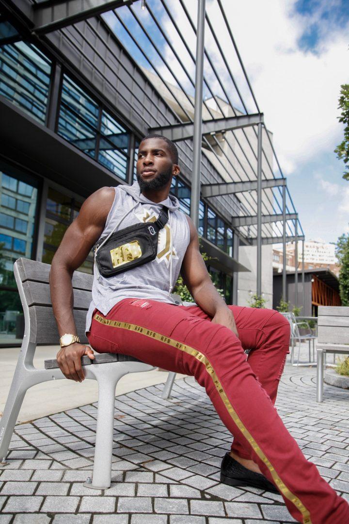 Men's Fashion Sportswear, Athleisure, Athletic wear, Windbreaker,Daniel Obiefuna Nwandu, Fondu, Portrait Photography, Nigerian Male Model, Actor, Artist, Designer, Commissioner of Reflex Football, RFB