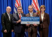 Daniel participates in BC Gov't funding announcement for seniors care at Legislature