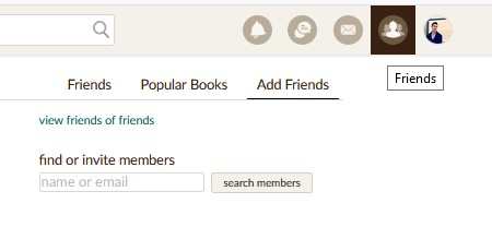 busqueda amigos nombre goodreads