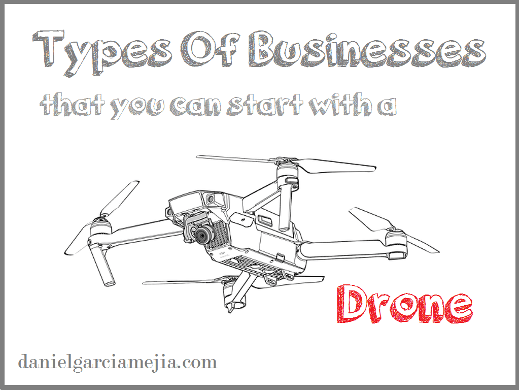 type business with a drone miniatura