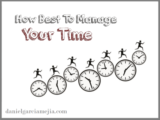 how best manage your time banner