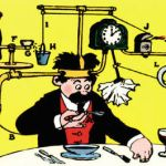 Máquina de Rube Goldberg con Luz