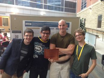 The Sonification Team - winners of the Group Poster Award at the CPES Undergraduate Poster Session 2014