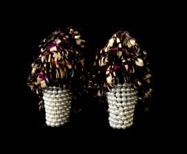 Criminal Aesthetic Fashion #24, 2013, cotton texture, perls, paillettes decoration and studs, size n40 / 9, unique piece