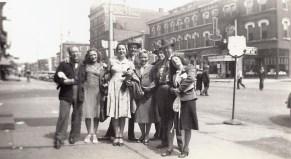Egyptian Follies cast, street photo. Grandma third from frame left.